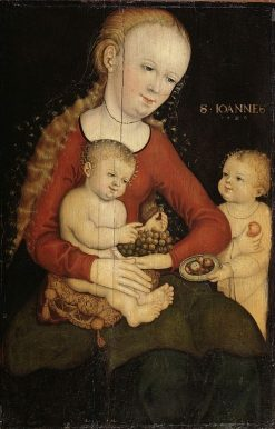 Virgin and Child with the infant Saint John the Baptist | Lucas Cranach the Elder | Oil Painting