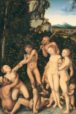 The Silver Age(also known as The Fruits of Jealousy) | Lucas Cranach the Elder | Oil Painting