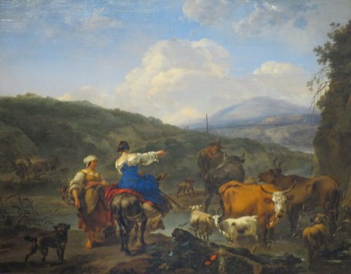 Cattle at a Watering Place | Nicolaes Berchem | Oil Painting