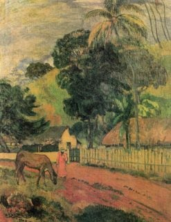 Le cheval sur le chemin (The Horse in the Road) | Paul Gauguin | Oil Painting