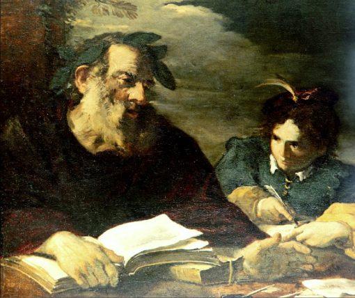 Homer Dictating | Pier Francesco Mola | Oil Painting