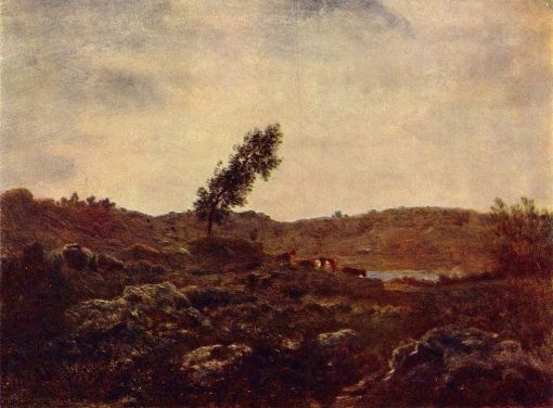 Landscape near Barbizon | ThEodore Rousseau | Oil Painting