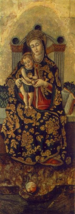 Madonna and Child (center panel from altarpiece) | Vittore Crivelli | Oil Painting