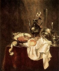 Ham and Silverware | Willem Claesz. Heda | Oil Painting