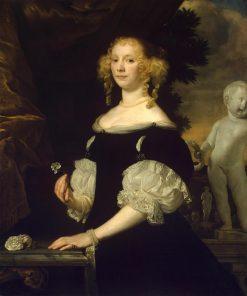 Portrait of a Lady in Black | Abraham van den Tempel | Oil Painting