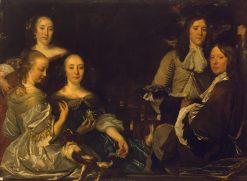 Family Portrait | Abraham van den Tempel | Oil Painting
