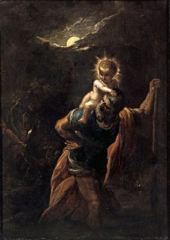 Saint Christopher | Adam Elsheimer | Oil Painting