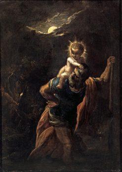 Saint Christopher | Adam Elsheimer | Oil Painting