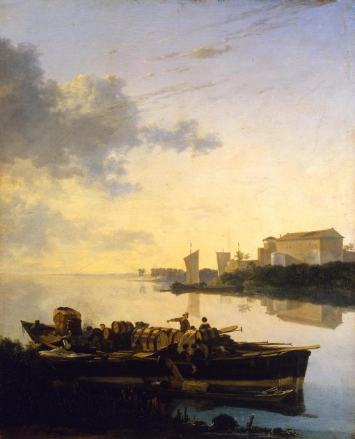 Boat at Sunset   Adam Pynacker   Oil Painting