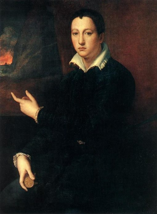 Portrait of a Young Man   Alessandro Allori   Oil Painting