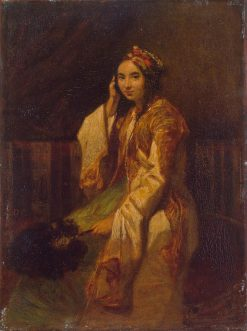Woman in Oriental Dress | Alexandre Gabriel Decamps | Oil Painting