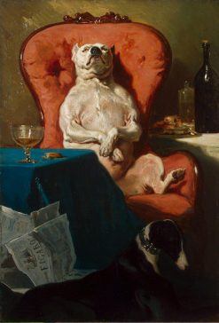 The Dog in the Armchair | Alfred de Dreux | Oil Painting