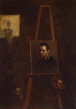 Self Portrait - Easel | Annibale Carracci | Oil Painting