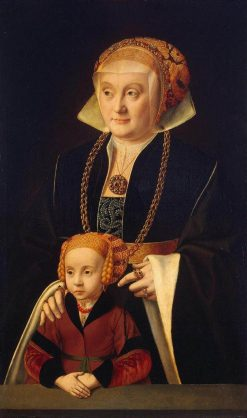 Portrait of a Woman with Her Daughter | Bartholomaeus Bruyn the Elder | Oil Painting