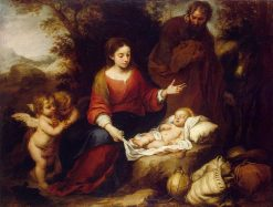Rest on the Flight into Egypt | BartolomE Esteban Murillo | Oil Painting