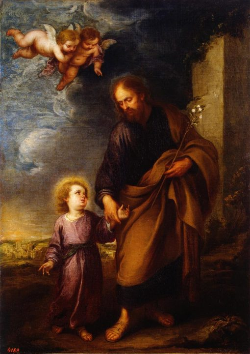 Saint Joseph Leading the Christ Child | BartolomE Esteban Murillo | Oil Painting