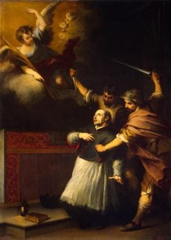 Death of the Inquisitor Pedro de Arbues | BartolomE Esteban Murillo | Oil Painting