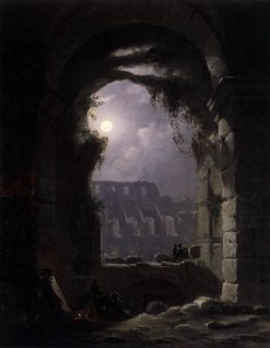 View of the Colosseum at Night   Carl Gustav Carus   Oil Painting