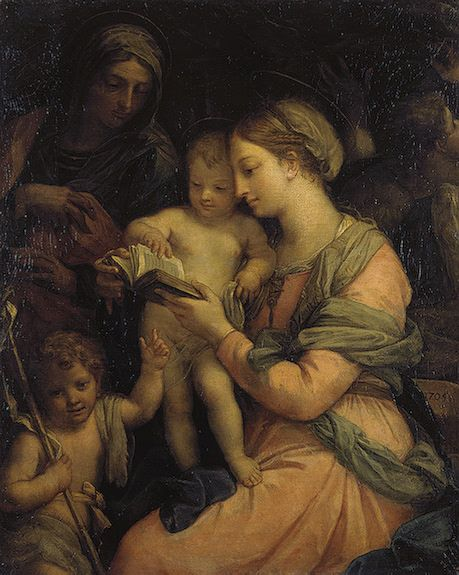 Madonna Teaching the Infant Christ Reading | Carlo Maratta | Oil Painting
