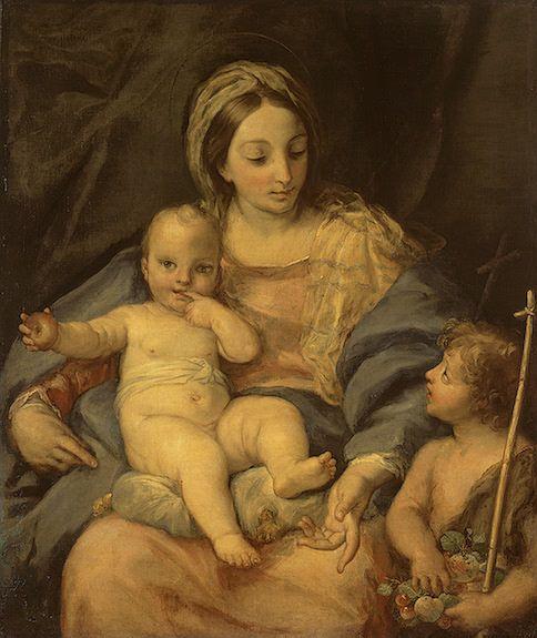 Madonna and Child with Saint John the Baptist | Carlo Maratta | Oil Painting