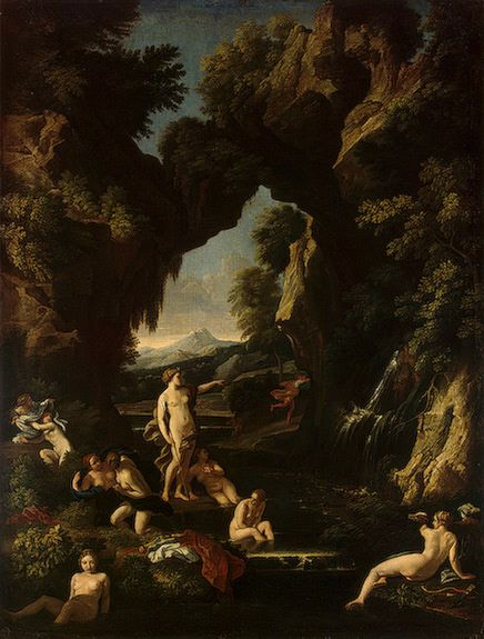 Landscape with Diana and Actaeon | Carlo Maratta | Oil Painting
