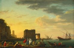 Italian Harbour | Claude Joseph Vernet | Oil Painting
