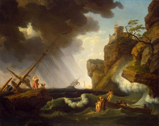 Shipwreck   Claude Joseph Vernet   Oil Painting