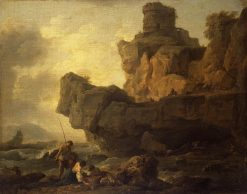 Rocks on a Seashore | Claude Joseph Vernet | Oil Painting