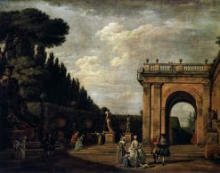 View in the Park of the Villa Ludovisi in Rome | Claude Joseph Vernet | Oil Painting