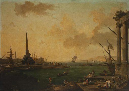Harbour with Obelisk   Claude Joseph Vernet   Oil Painting