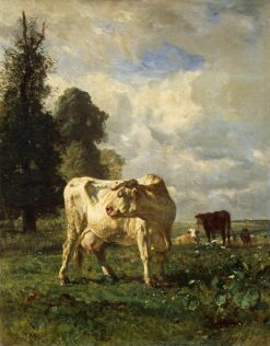 Cows in the Field | Constant Troyon | Oil Painting
