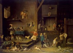 The Kitchen   David Teniers II   Oil Painting