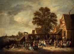 The Village Feast   David Teniers II   Oil Painting