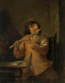 The Flautist   David Teniers II   Oil Painting