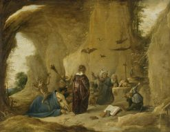 The Temptation of Saint Anthony   David Teniers II   Oil Painting