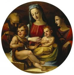 Holy Family with St. John the Baptist and St. Catherine | Domenico Beccafumi | Oil Painting