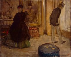 Interior with Two Figures | Edgar Degas | Oil Painting
