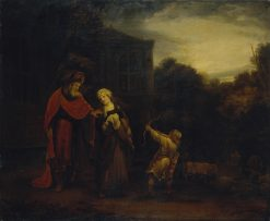 Banishment of Hagar and Ishmael | Ferdinand Bol | Oil Painting