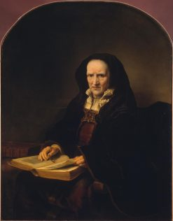 Old Woman with a Book | Ferdinand Bol | Oil Painting