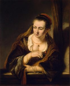 Young Woman at a Window | Ferdinand Bol | Oil Painting
