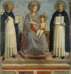 The Virgin and Child with Saints Dominic and Thomas Aquinas | Fra Angelico | Oil Painting