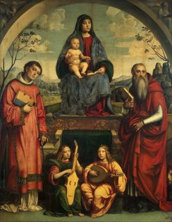 Madonna and Child with Saints Lawrence and Jerome | Francesco Francia | Oil Painting