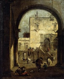 View of a Square and Palace | Francesco Guardi | Oil Painting