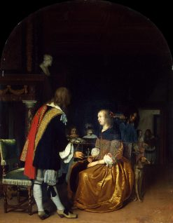 Oyster Eaters | Frans van Mieris the Elder | Oil Painting