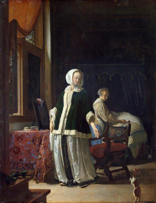 Lady at Her Toilet | Frans van Mieris the Elder | Oil Painting