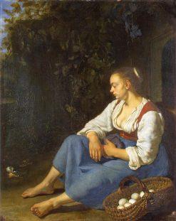 The Broken Egg | Frans van Mieris the Elder | Oil Painting