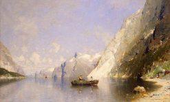 Fjord in Norway | Georg Anton Rasmussen | Oil Painting