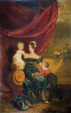 Portrait of Grand Duchess Alexandra Feodorovna and Her Children | George Dawe | Oil Painting
