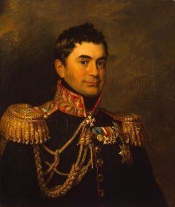 Portrait of Pyotr M. Volkonsky   George Dawe   Oil Painting