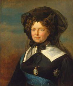 Portrait of Empress Maria Feodorovna in Mourning | George Dawe | Oil Painting